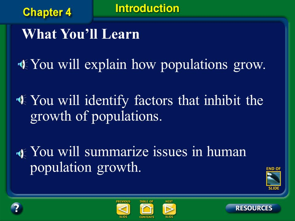 You will explain how populations grow.