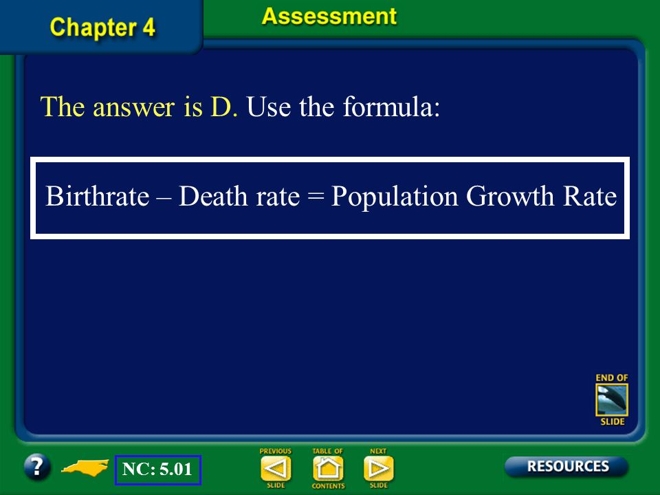 The answer is D. Use the formula: