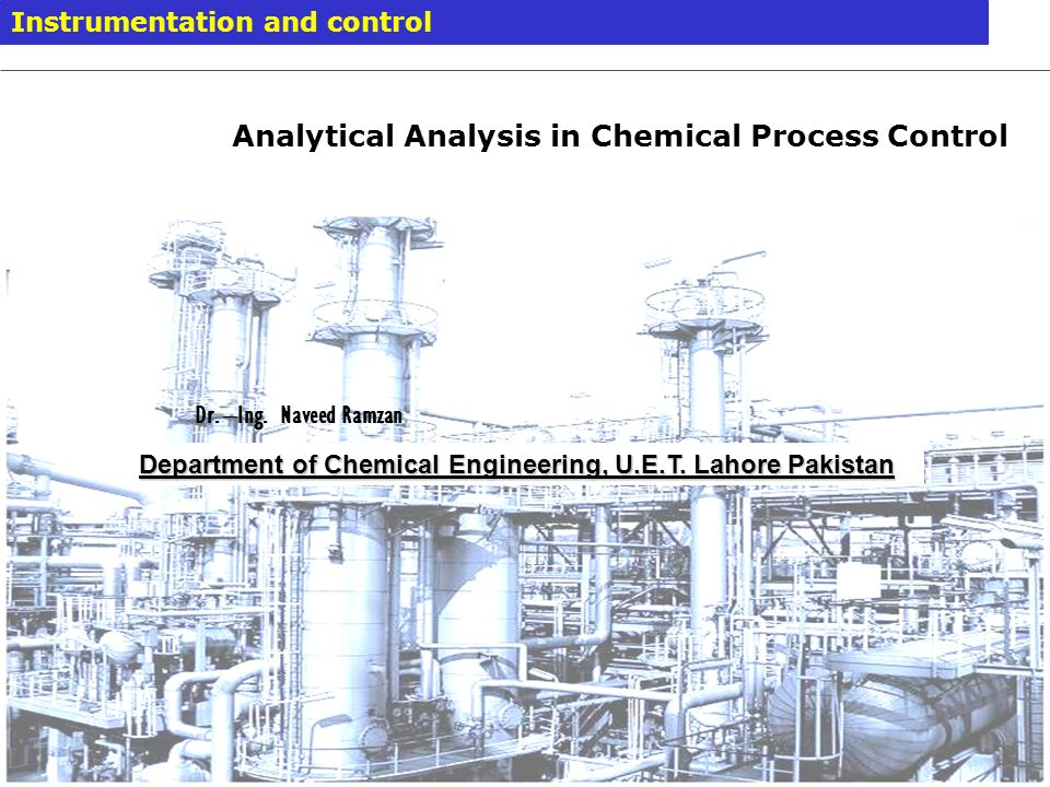 Analytical Analysis in Chemical Process Control