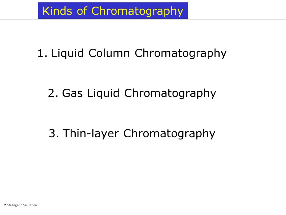 Kinds of Chromatography