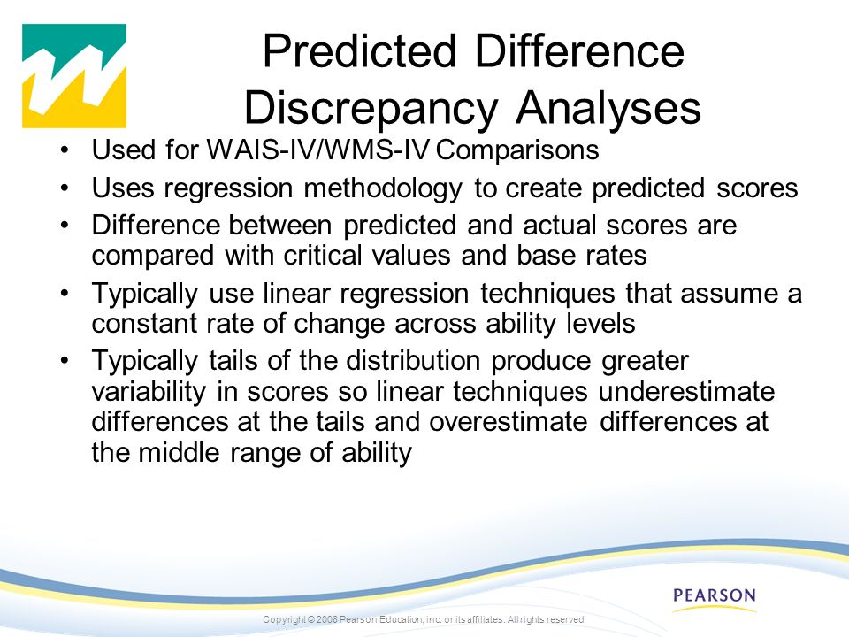 Predicted Difference Discrepancy Analyses