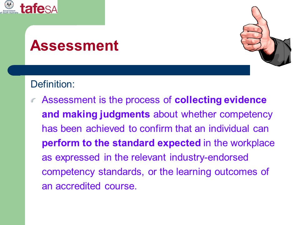 Assessment Definition: