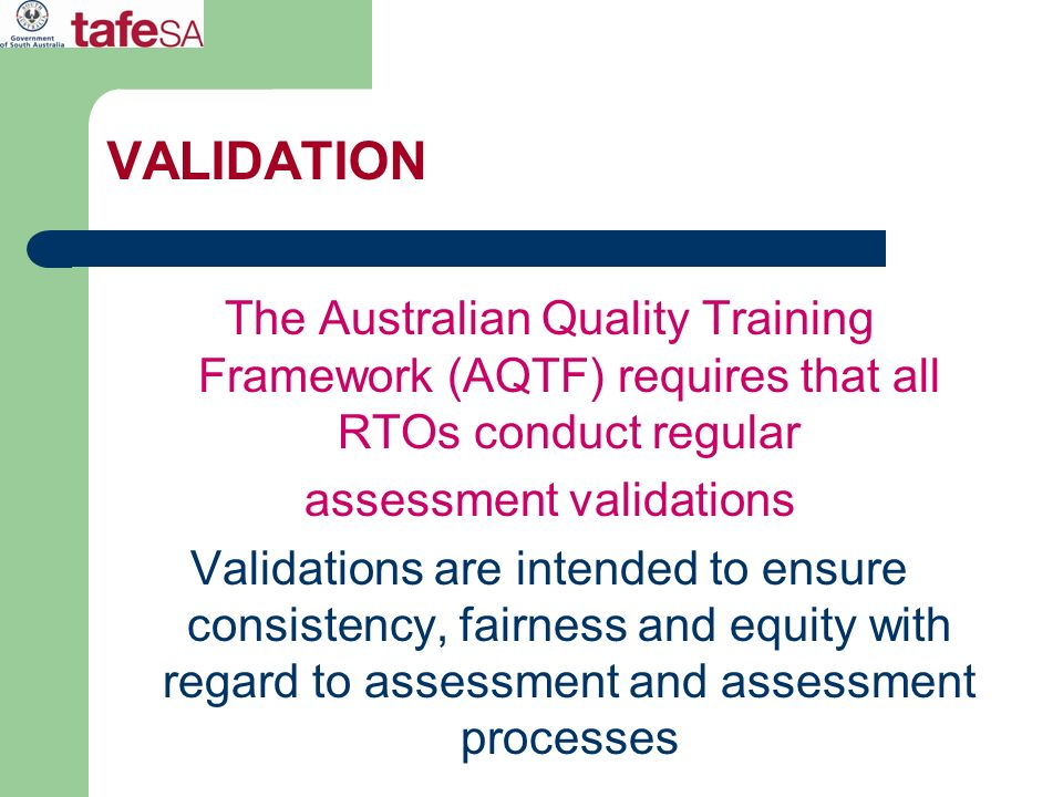 assessment validations