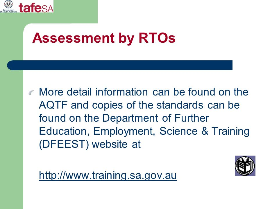 Assessment by RTOs
