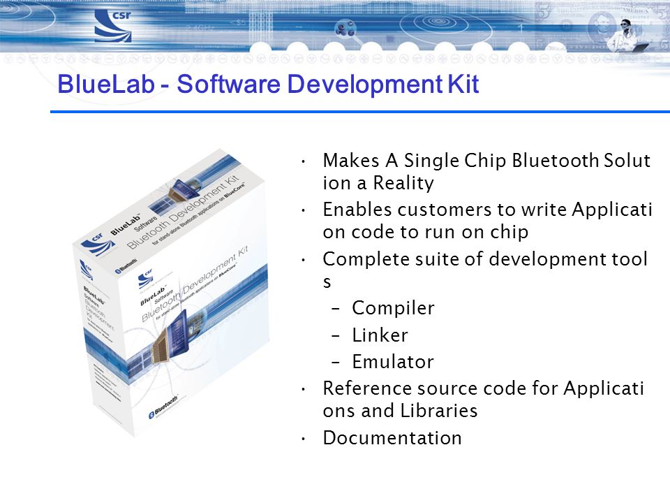 BlueLab - Software Development Kit