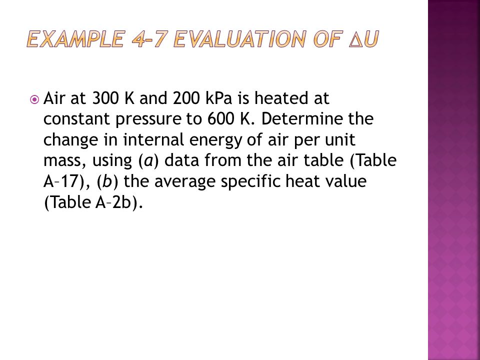 EXAMPLE 4–7 Evaluation of u