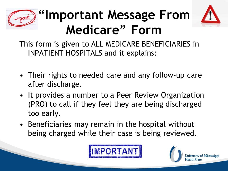 Important Message From Medicare Form