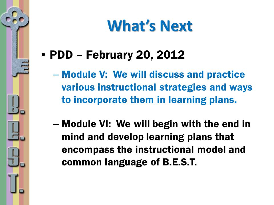 What's Next PDD – February 20, 2012