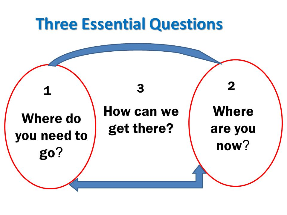 Three Essential Questions