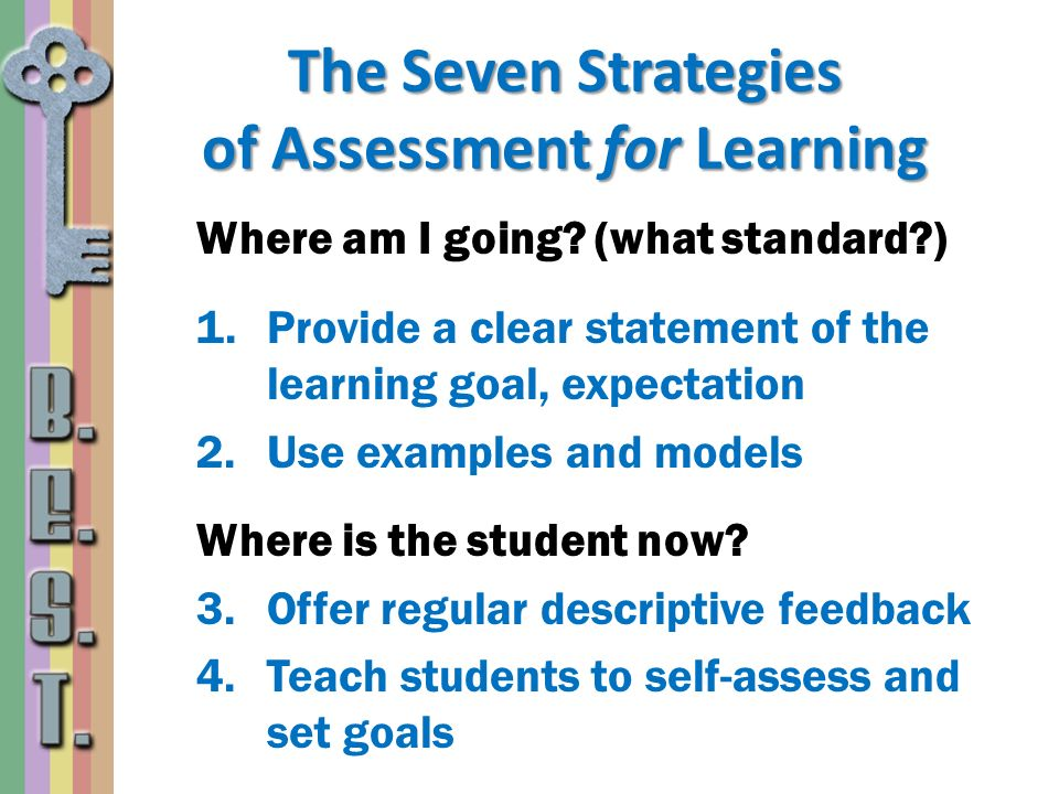 The Seven Strategies of Assessment for Learning