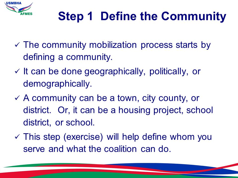 Step 1 Define the Community