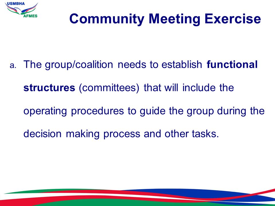 Community Meeting Exercise