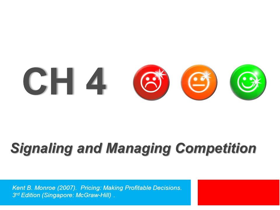 CH 4 Signaling and Managing Competition