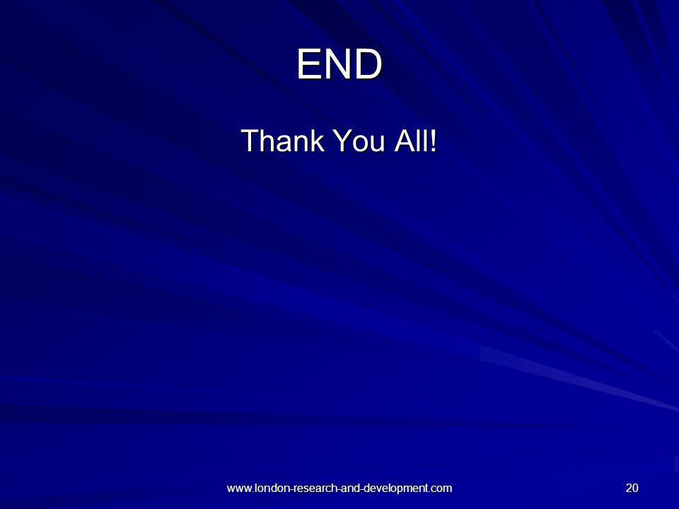 END Thank You All! www.london-research-and-development.com