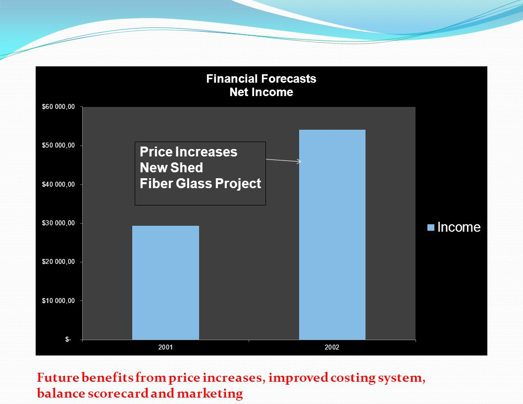 Future benefits from price increases, improved costing system,
