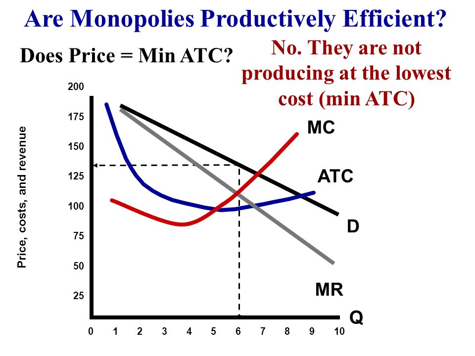 Are Monopolies Productively Efficient