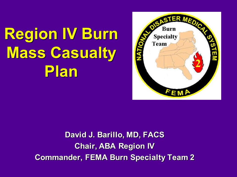Region IV Burn Mass Casualty Plan