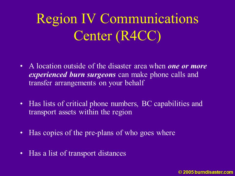 Region IV Communications Center (R4CC)