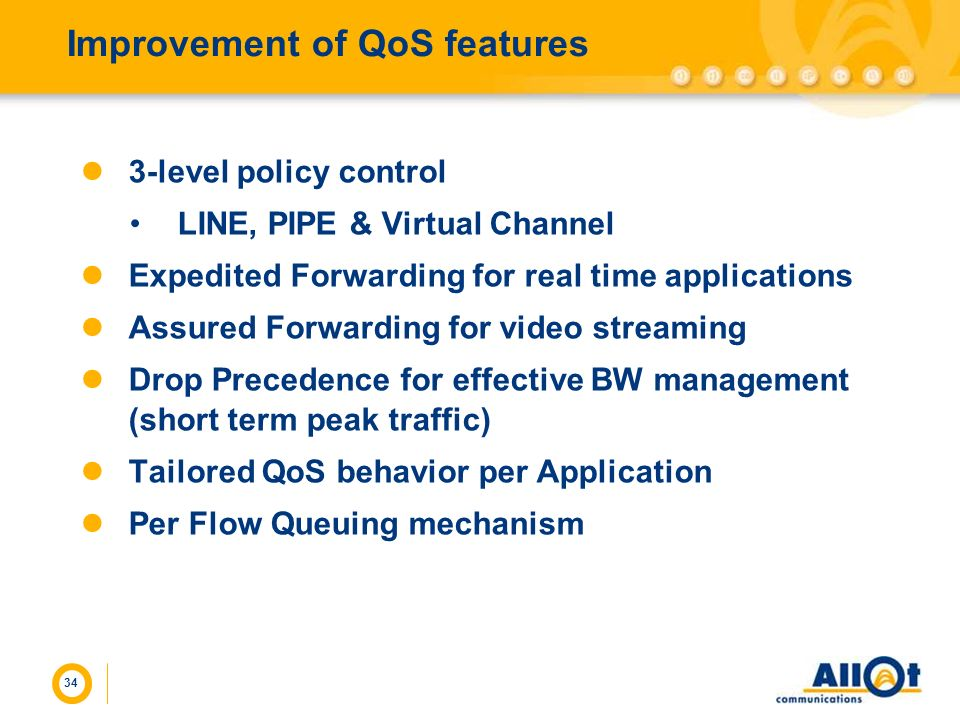 Improvement of QoS features