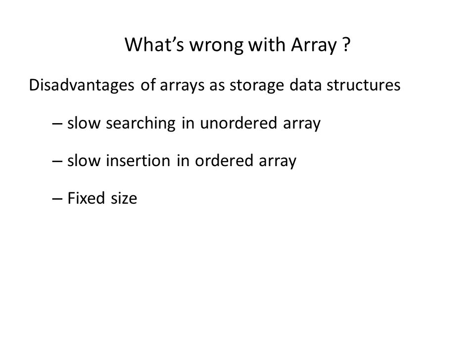 What's wrong with Array