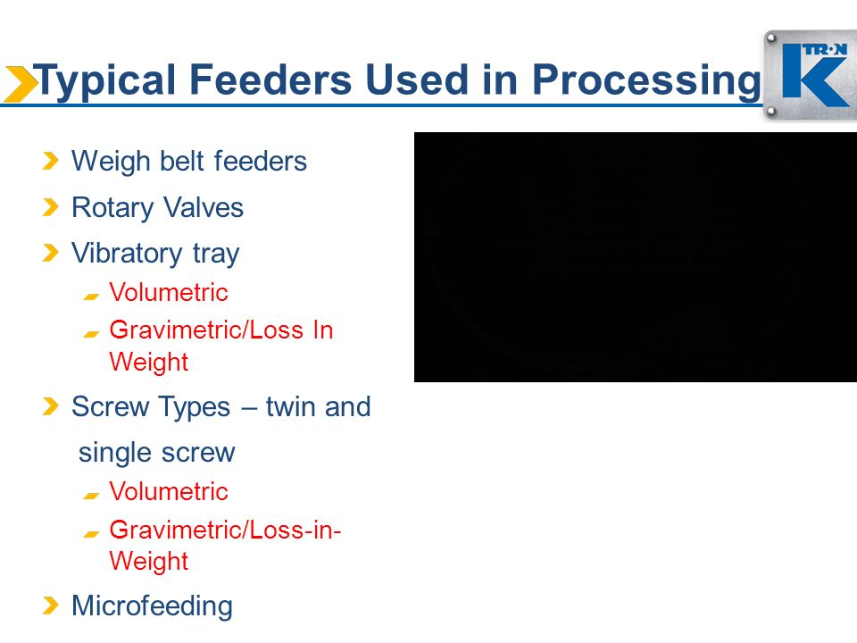 Typical Feeders Used in Processing