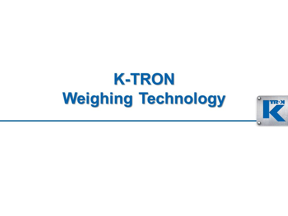K-TRON Weighing Technology
