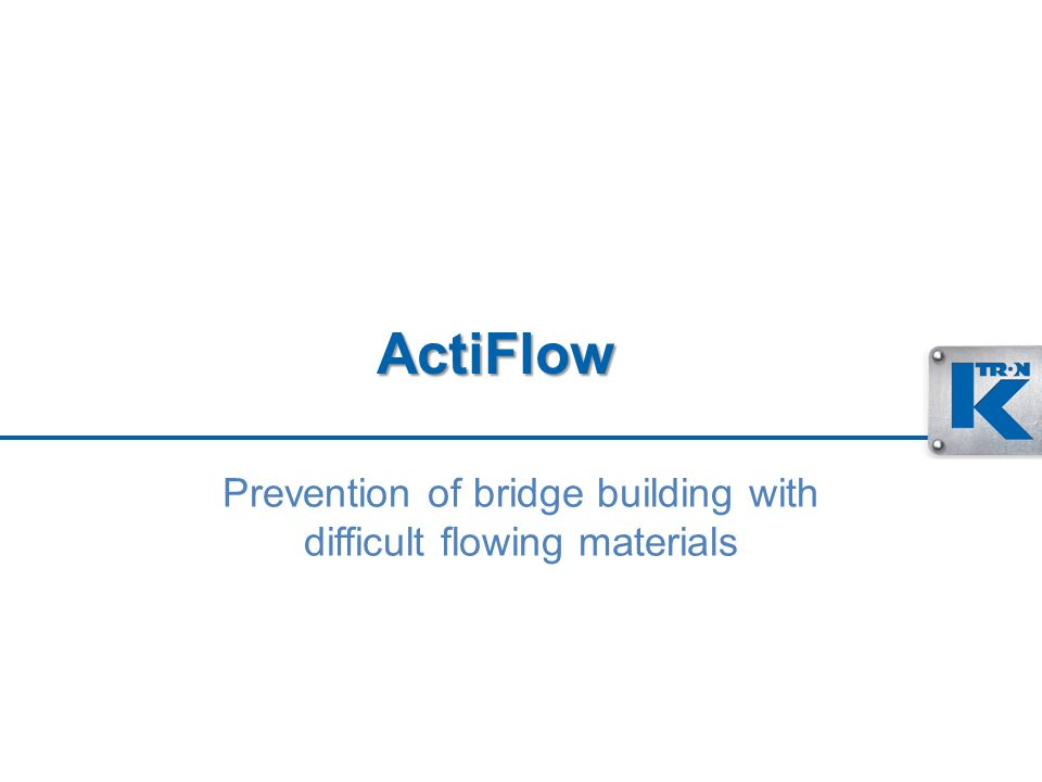 Prevention of bridge building with difficult flowing materials