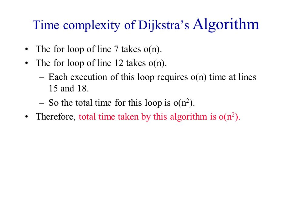 Time complexity of Dijkstra's Algorithm