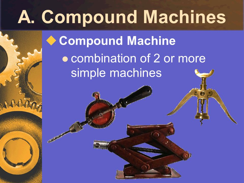 A. Compound Machines Compound Machine