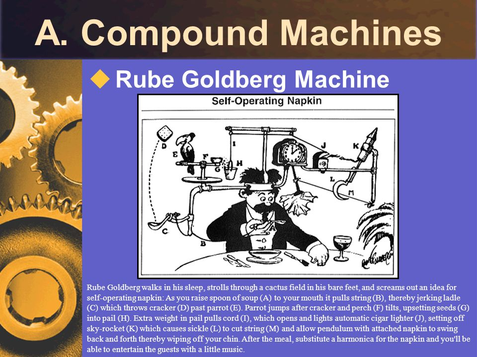 A. Compound Machines Rube Goldberg Machine