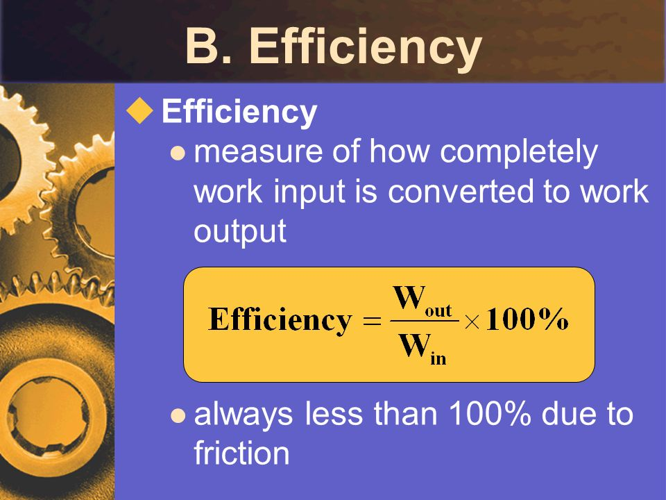 B. Efficiency Efficiency