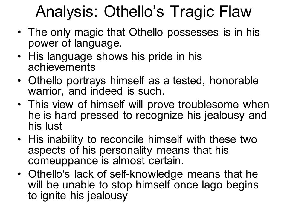 Analysis: Othello's Tragic Flaw