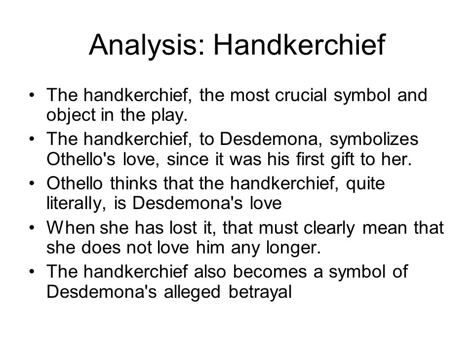 Analysis: Handkerchief