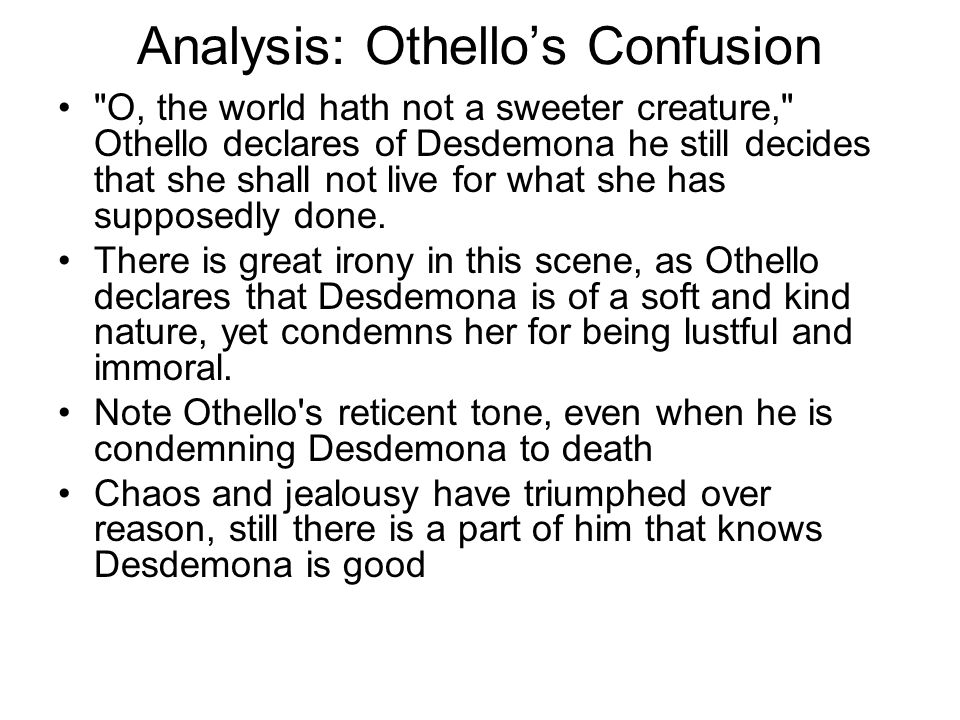 Analysis: Othello's Confusion