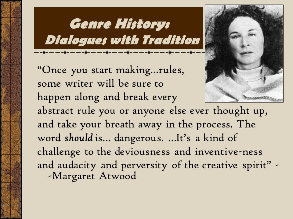 Genre History: Dialogues with Tradition