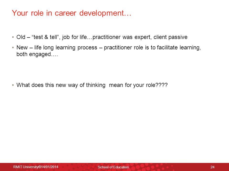 Your role in career development…