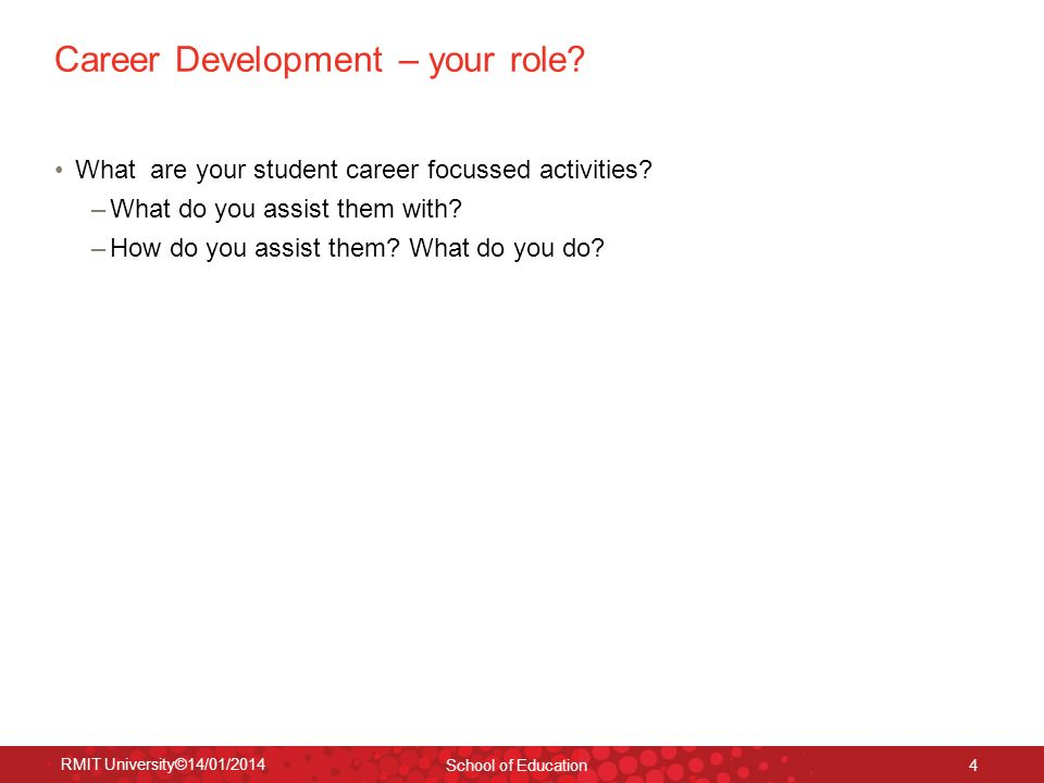 Career Development – your role