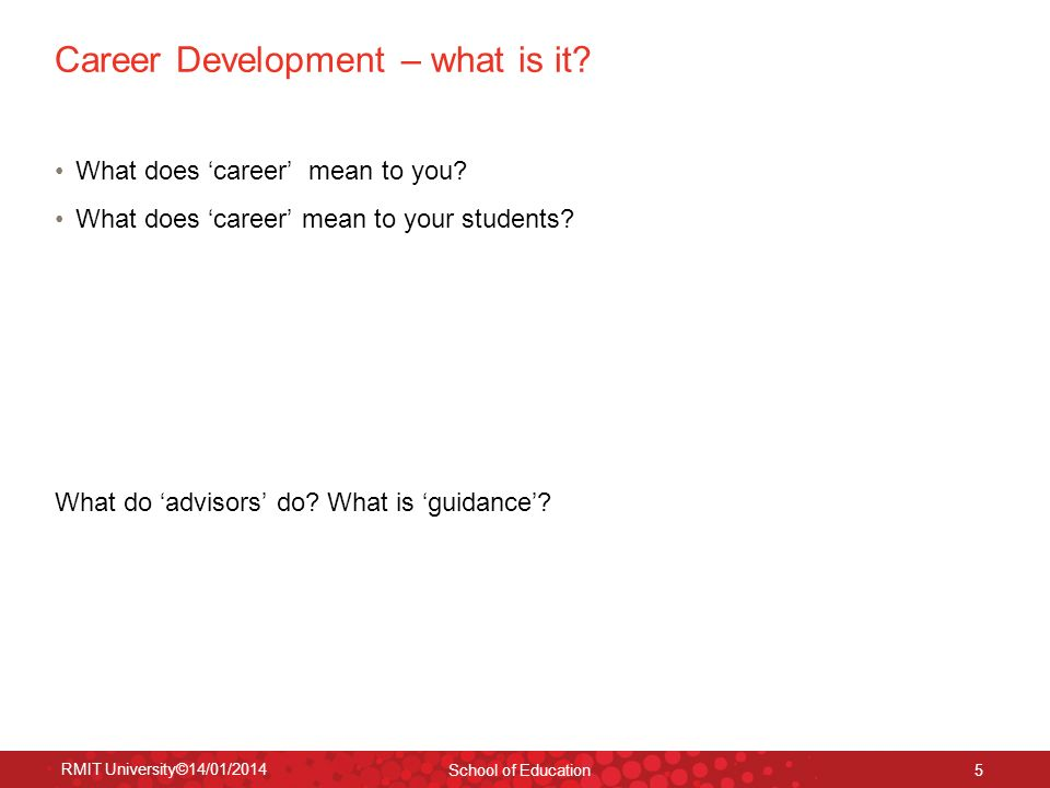 Career Development – what is it