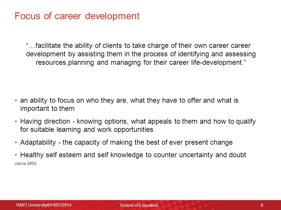 Focus of career development