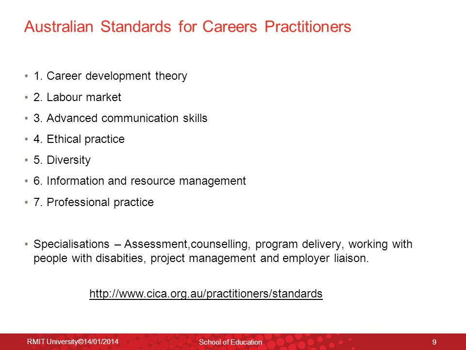 Australian Standards for Careers Practitioners