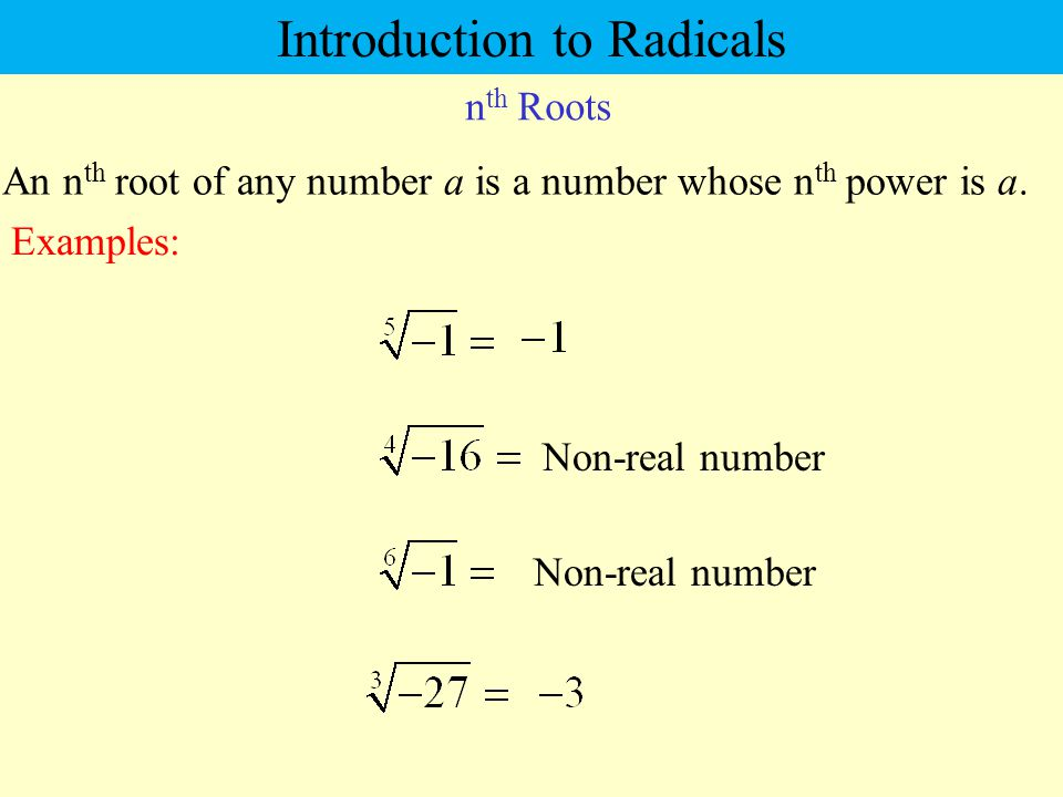 Introduction to Radicals