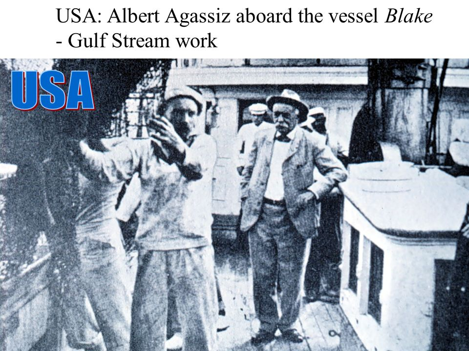 USA: Albert Agassiz aboard the vessel Blake