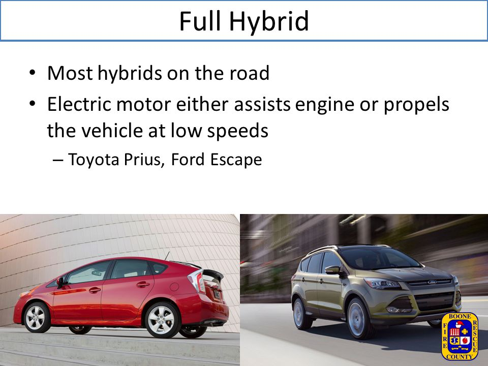 Full Hybrid Most hybrids on the road