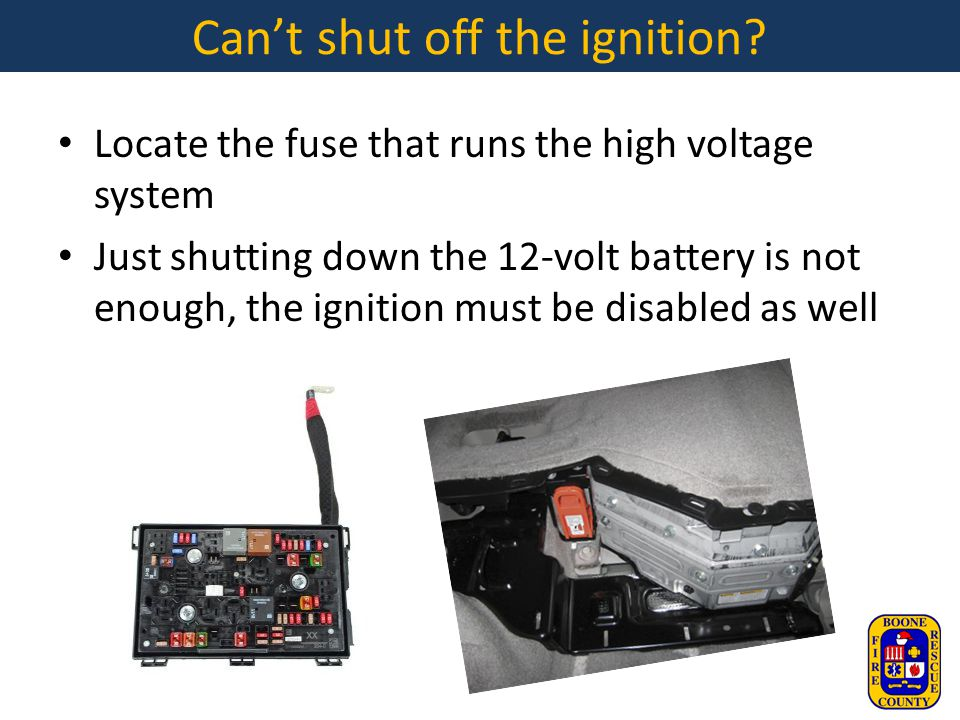 Can't shut off the ignition