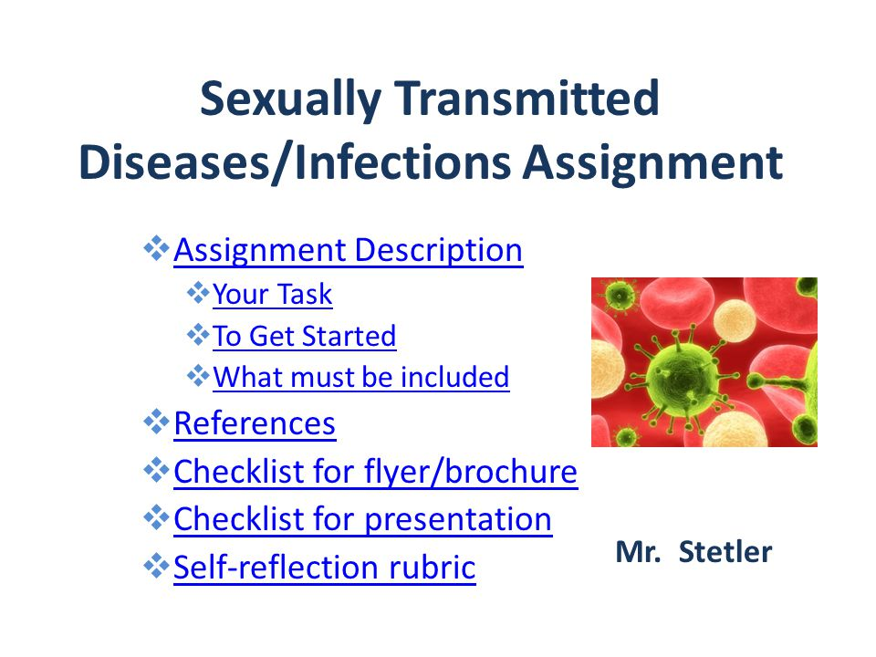 List of all known sexually transmitted infections ppt