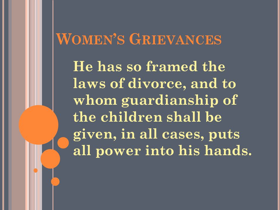 Women's Grievances