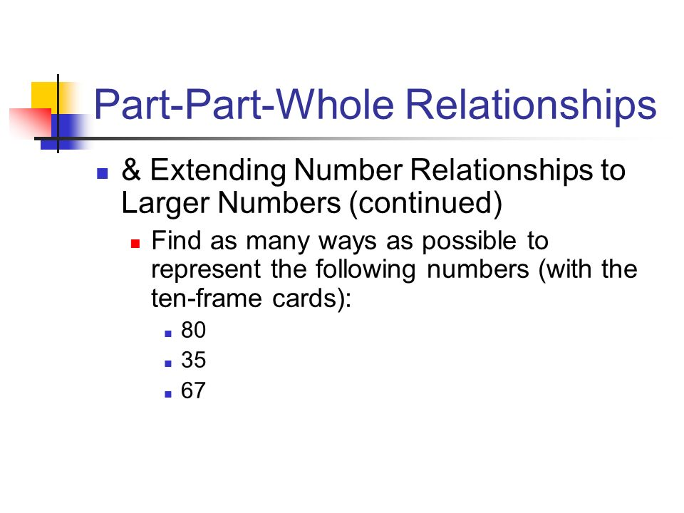 Part-Part-Whole Relationships