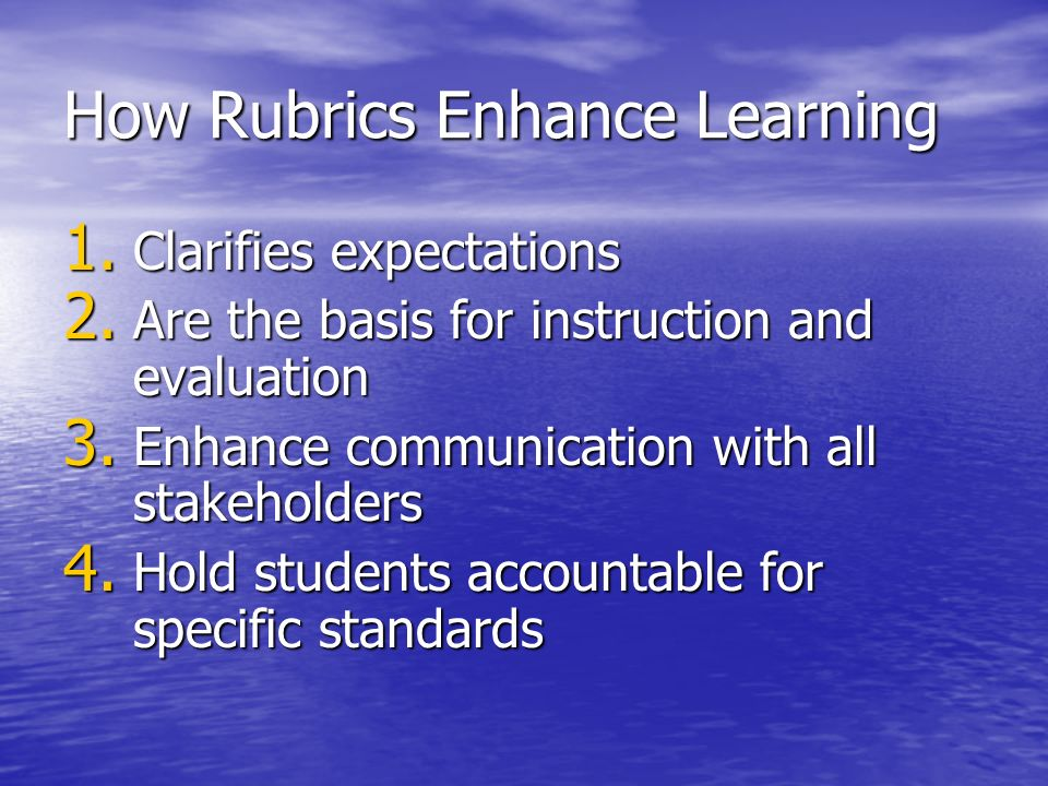 How Rubrics Enhance Learning