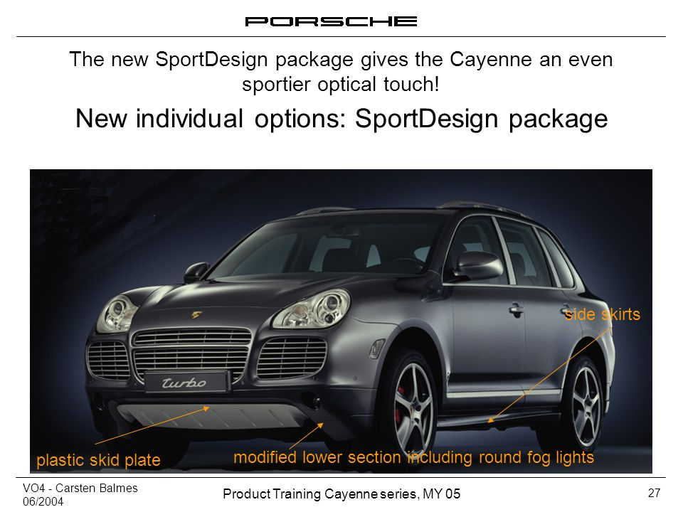 New individual options: SportDesign package