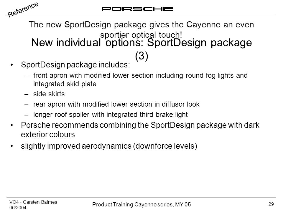 New individual options: SportDesign package (3)
